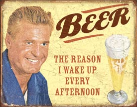 beer metal sign funny