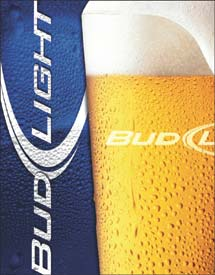 bud light logo metal sign