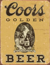 coors logo metal sign