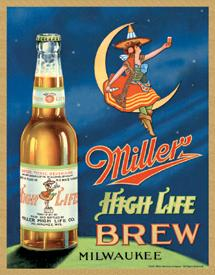 Miller Beer Vintage Logo Metal Sign