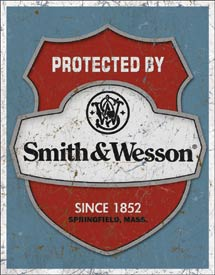 smith and wesson old logo metal sign