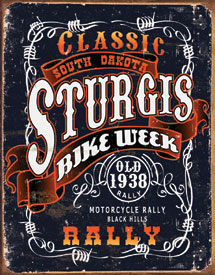 Sturges Bike Week Metal Sign