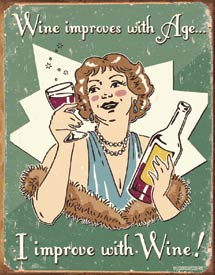 Wine Funny Metal Sign