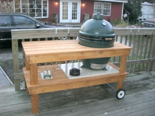 Big Green Egg Custom Made Cook's Grill Station