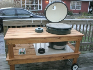 Big Green Egg Grill Station - Finished