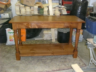 Custom Built Kitchen Island $775  Pine Base Maple Top