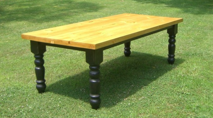 Custom Farm Table - Butcher Block Top